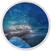 In The Ice Round Beach Towel