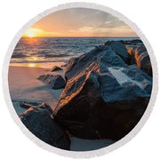 In The Jetty Round Beach Towel