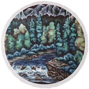 In The Land Of Dreams Round Beach Towel