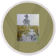 In The Library Round Beach Towel