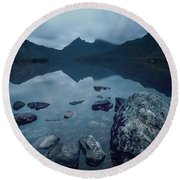 In The Light Of Dawn Round Beach Towel