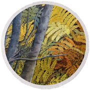 In The Maine Woods Round Beach Towel