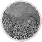 In The Moment Bw  Round Beach Towel