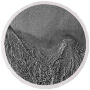 In The Moment Bw Two  Round Beach Towel