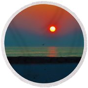 In The Morning Sun Round Beach Towel by Bill Cannon