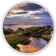 In The Morning Round Beach Towel