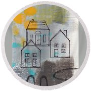 In The Neighborhood Round Beach Towel
