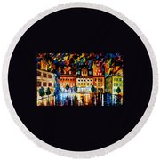 In The Old City Round Beach Towel