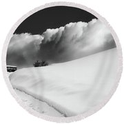 in the Ore Mountains Round Beach Towel