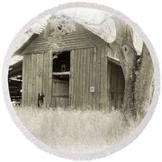 In The Pecan Orchard Round Beach Towel