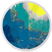 In The Rainforest Round Beach Towel