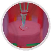 In The Red Room Round Beach Towel