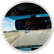 In The Road 2 Round Beach Towel