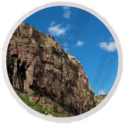 In The Royal Gorge Round Beach Towel