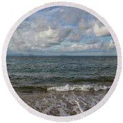 In The Sea Round Beach Towel