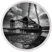 Northern Spire Bridge 4 Round Beach Towel