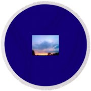 In The Sky Above And Below Round Beach Towel