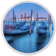 In The Twilight Of Memory Round Beach Towel