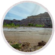 In The Valley Low Round Beach Towel