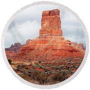 In The Valley Of The Gods Round Beach Towel