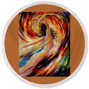 In The Vortex Of Passion Round Beach Towel