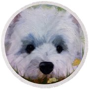 In The Weeds Round Beach Towel