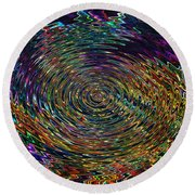 In The Whirl Of Light Round Beach Towel