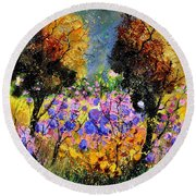 In The Wood  Round Beach Towel
