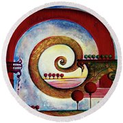 In The World Of Balance Round Beach Towel