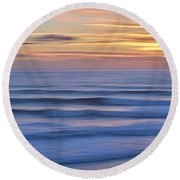 In Trace We Trust Round Beach Towel