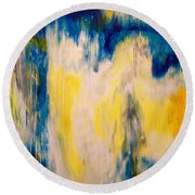 In Your Presence Round Beach Towel