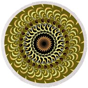 Incendia Kaleidoscope Round Beach Towel