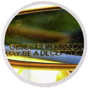 Incepticons May Be Closer Round Beach Towel