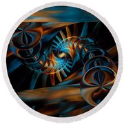 Inception Abstract Round Beach Towel