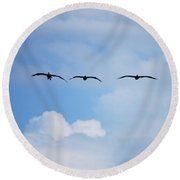 Incoming Round Beach Towel