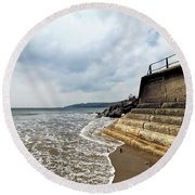 Incoming Tide - Charmouth Round Beach Towel