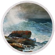 Incoming Tide Scarboro Maine Round Beach Towel
