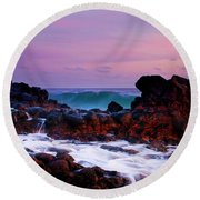 Incoming Wave Round Beach Towel