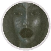 Incredulity  Round Beach Towel