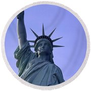 Independence Day Usa Round Beach Towel