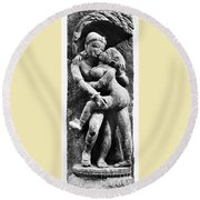 India: Sculpture Round Beach Towel