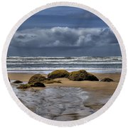 Indian Beach Round Beach Towel