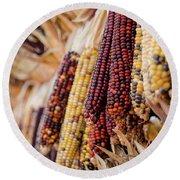 Indian Corn 6 Round Beach Towel