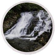 Indian Creek Falls 1 Round Beach Towel