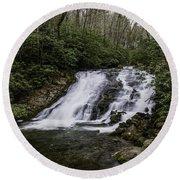 Indian Creek Falls 2 Round Beach Towel