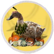 Indian Duck Round Beach Towel