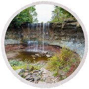 Indian Falls Round Beach Towel