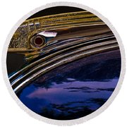 Indian Hood Ornament Round Beach Towel