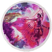 Indian Kathak Dance 87y Round Beach Towel