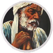 Indian Man Round Beach Towel